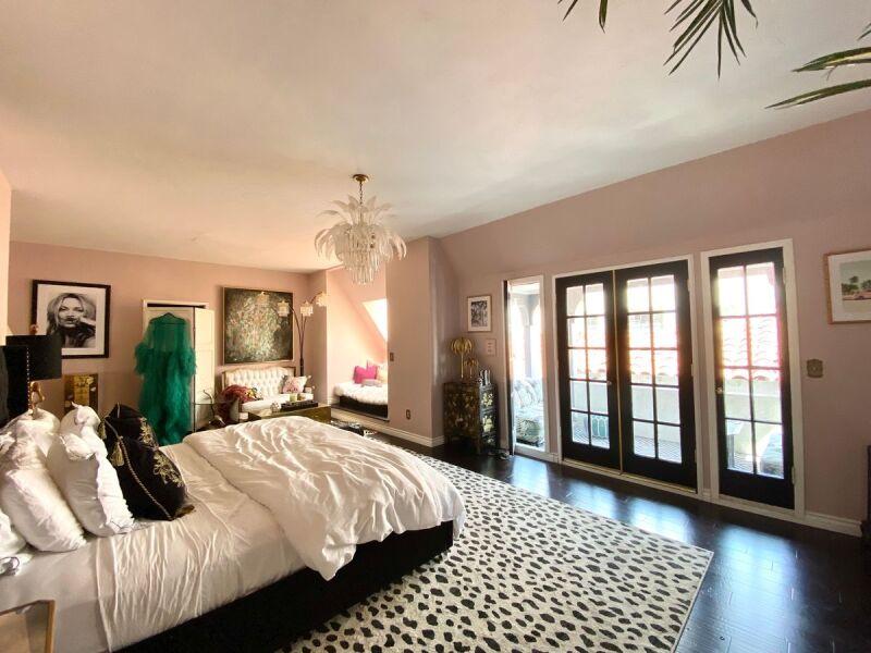 Design inspiration for a glam Hollywood Regency inspired bedroom.