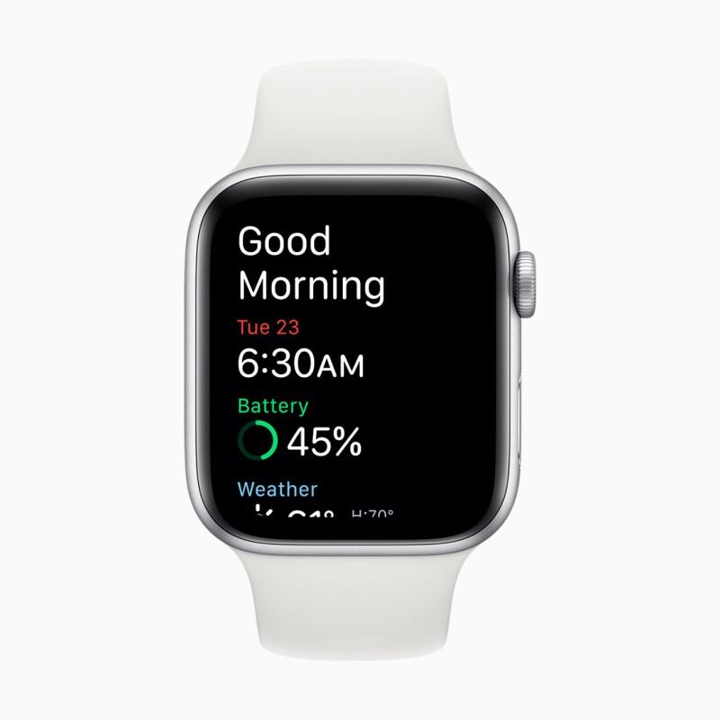 Apple Watch Good Morning screen.