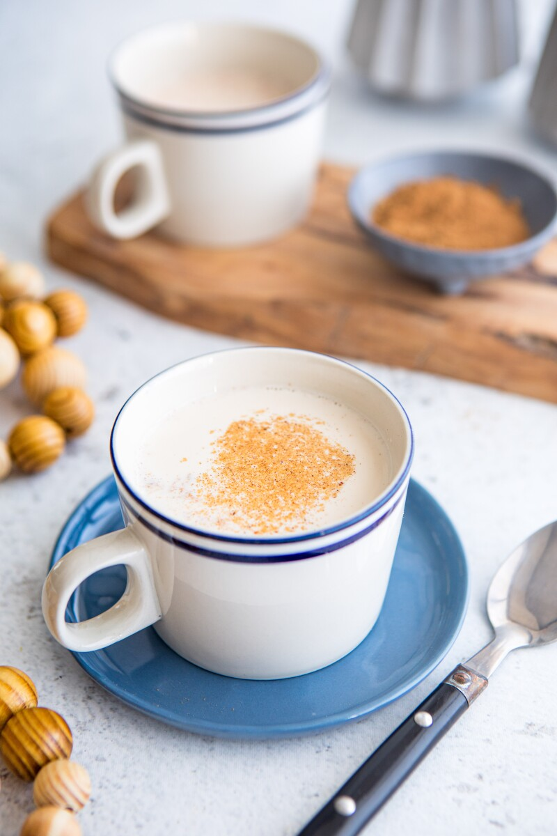 Warm Gingerbread Milk Mocktail