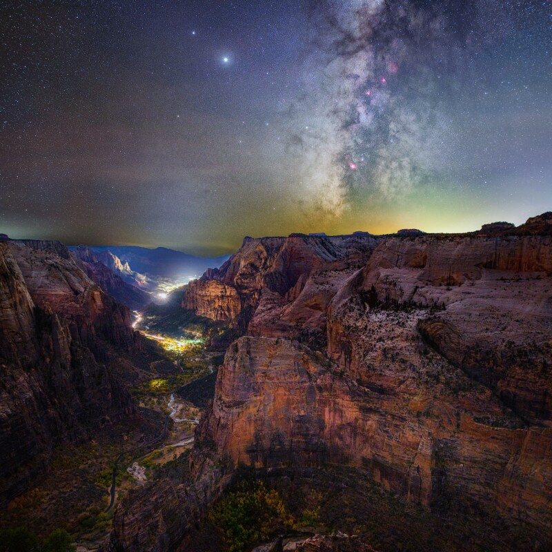 Dark skies stargazing at Zion National Park