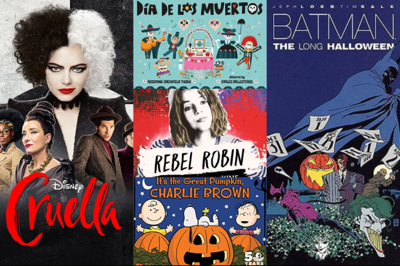 A collage of Halloween movies to watch at home with kids or alone before sleep.png