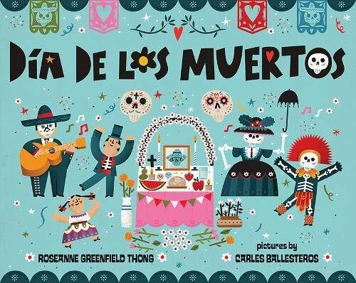 Cover art for Dia de los Muertos. Read for a Halloween at home with the kids.