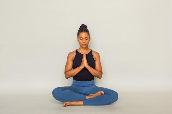 Seated meditation yoga pose