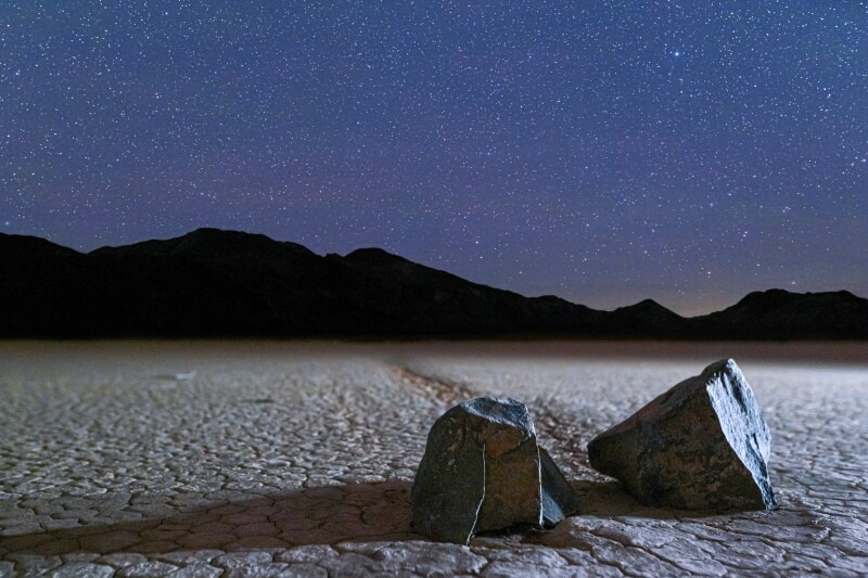 Deep skies stargazing on Racetrack Playa in Death Valley National Park.