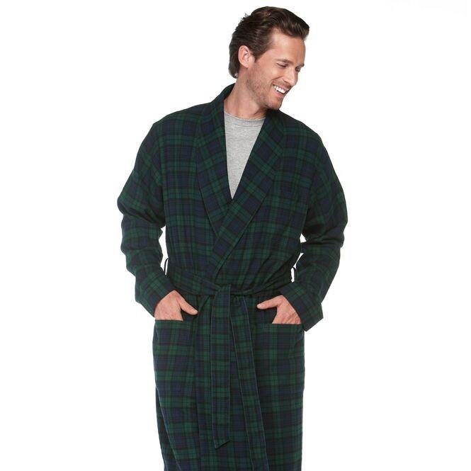 Man wearing LLBean-Flannel