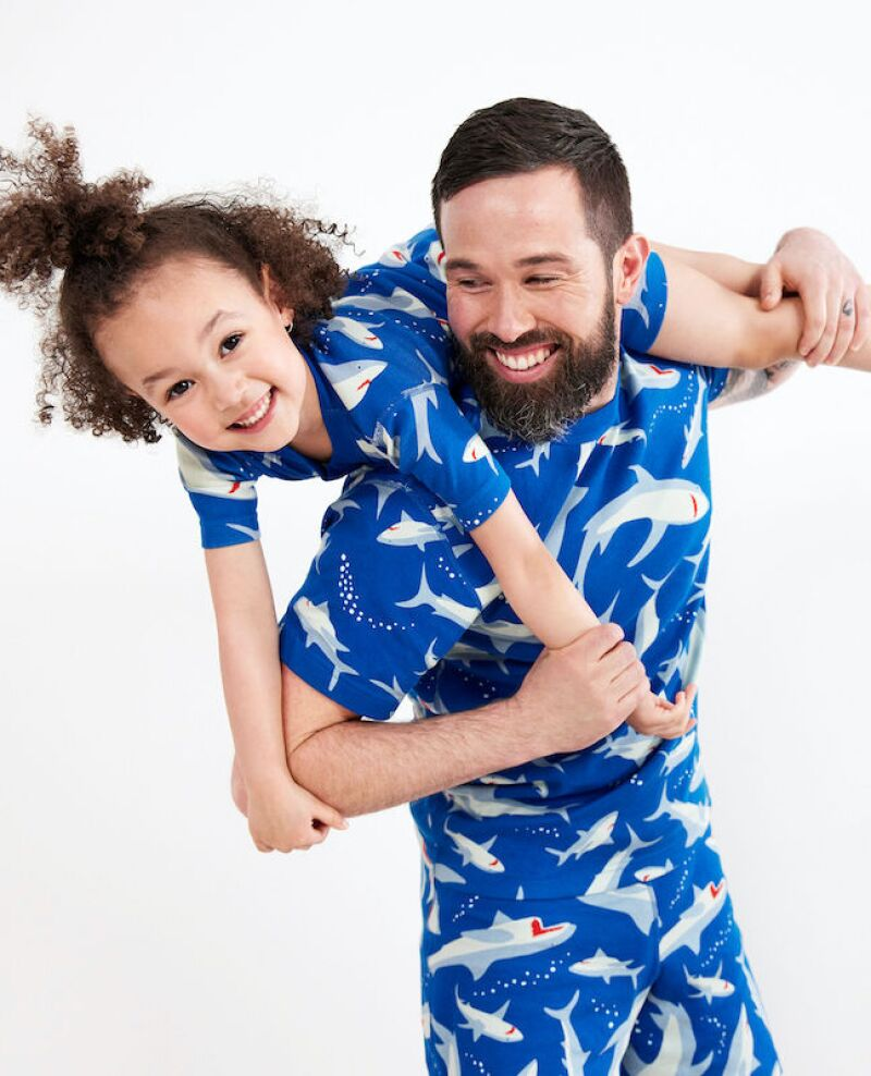 Hanna Andersson Matching Family Shark Pajamas