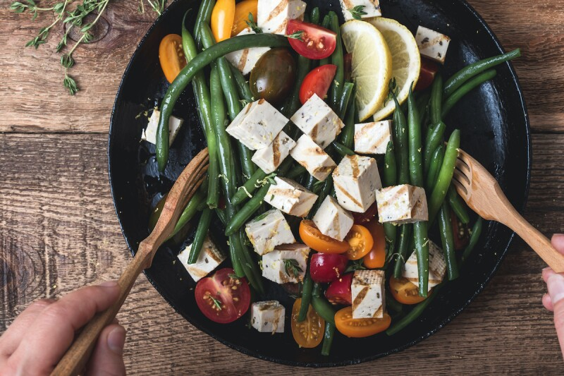 Estrogen-rich tofu salad for menopause
