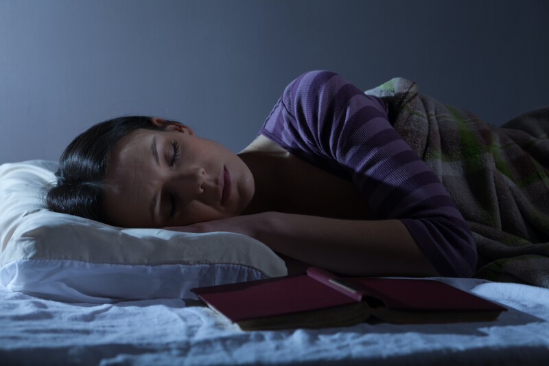 Person sleeping calming through the middle of the night
