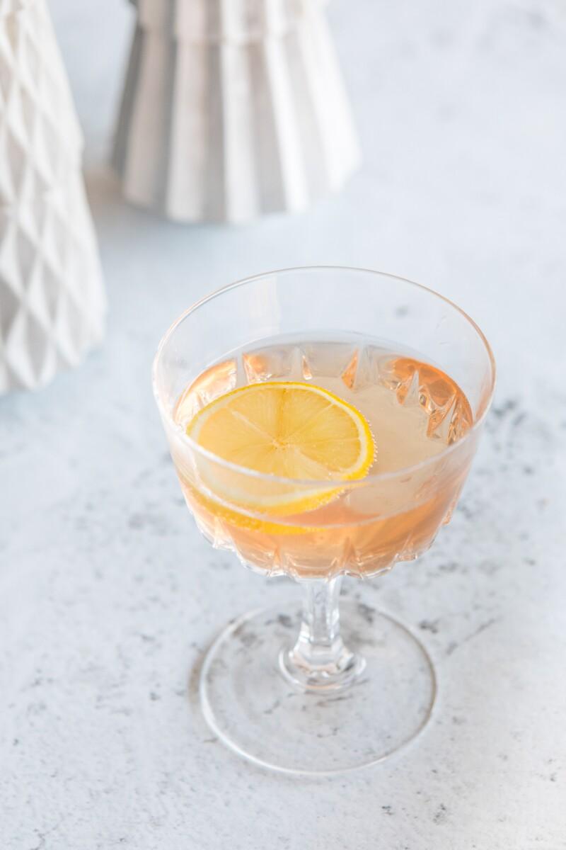 Sparkling Chamomile-Lemon Tea Mocktail
