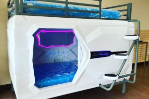 zPods - capsule beds for autistic children with LED lighting and air filtration