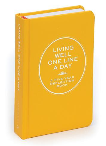 Chronicle Books Living Well One Line a Day Book