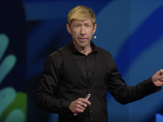 "Matt Walker deliver his ""Sleep is your superpower"" TED Talk"