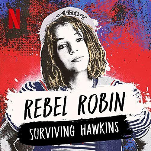 Cover art of Rebel Robin Stranger Things podcast for Halloween activity.png