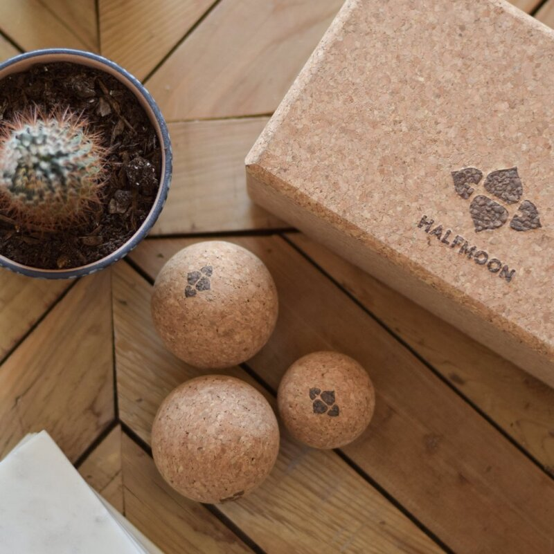 Three GAIAM branded cork balls