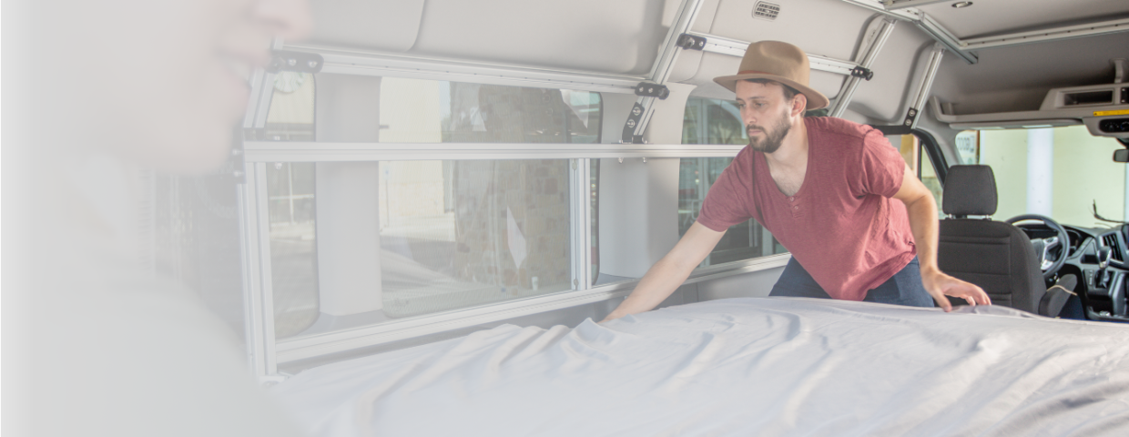 Outfit your camper van with comfortable sheets and pillows