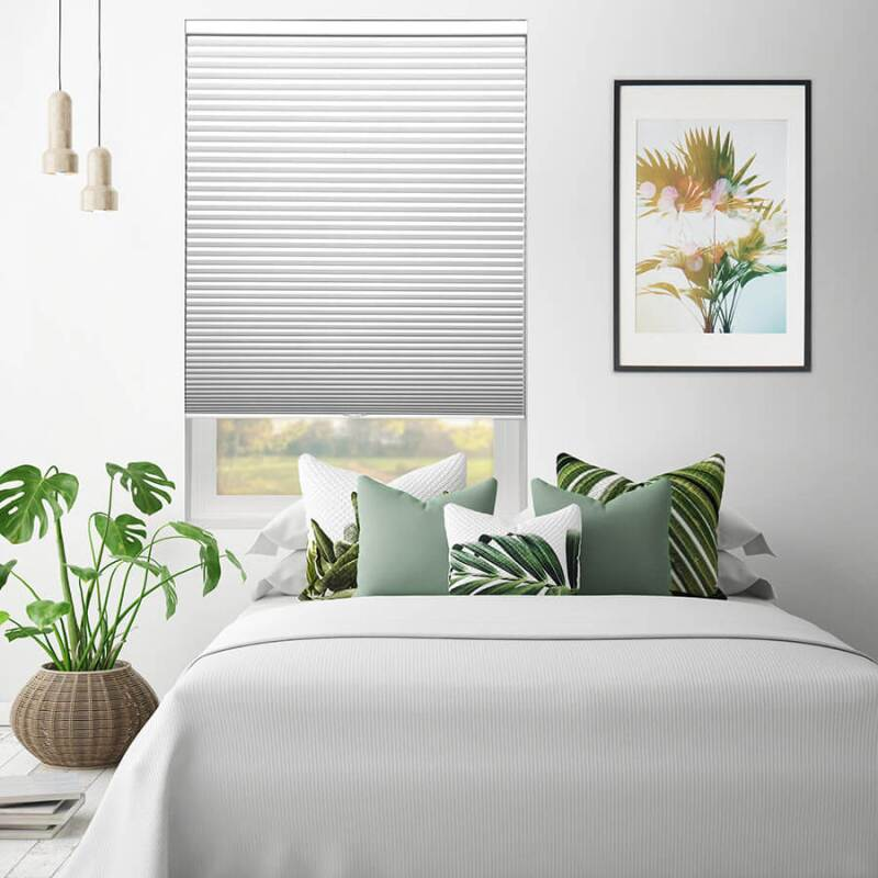 White Select Blinds on a bedroom window