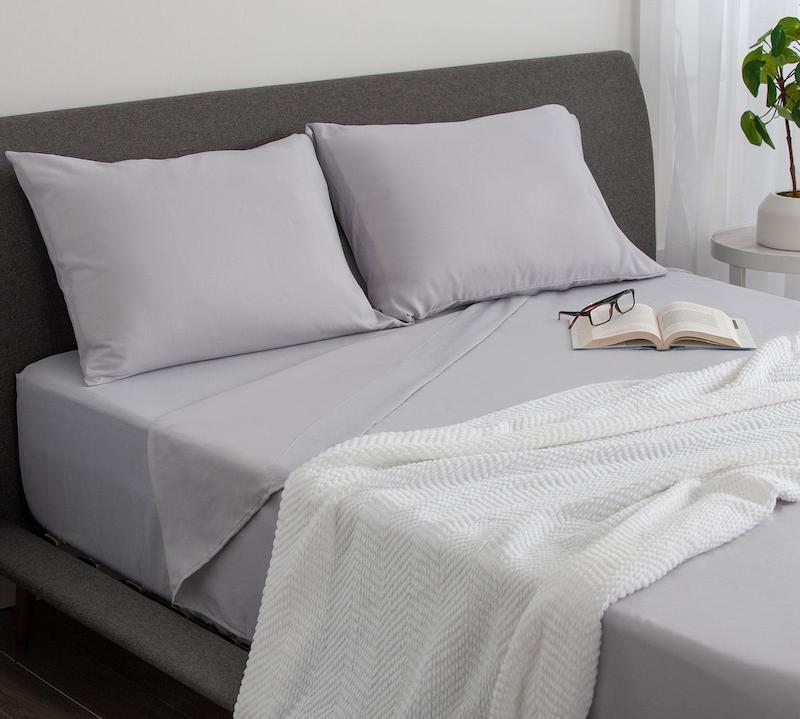 Soft sheets from Sleepys for a post grad bedroom