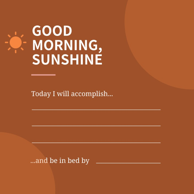 A fill-in-the-blank graphic for someone to set their morning intention