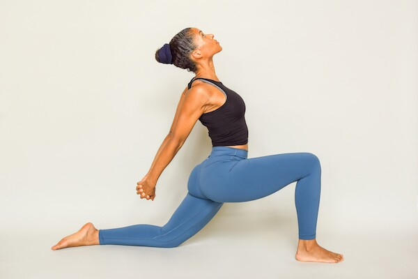 Low warrior pose for yoga